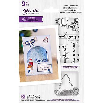 Gemini Peek-A-Boo Santa Stamp & Die