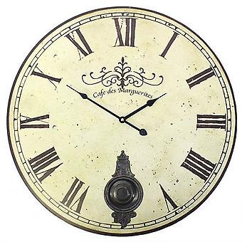 Something Different 58cm Vintage Style Clock With Pendulum
