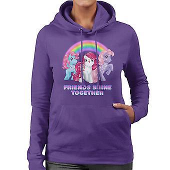 I miei piccoli amici Pony brillano insieme donne's felpa con cappuccio