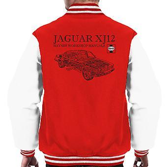 Haynes propietarios taller 0242 Manual Jaguar XJ12 negro Varsity chaqueta de los hombres