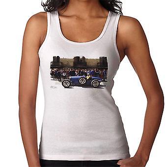 Bugatti type 3 Racing autó fehér nők ' s Vest
