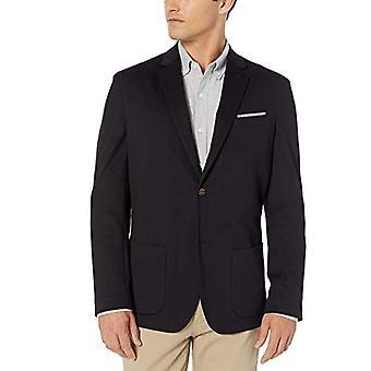 Essentials Men's Knit Sport Coat, Black, Medium