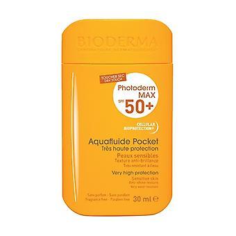 Aquafluide Pocket Solskyddsmedel Färglös SPF 50+ Photoderm 30 ml