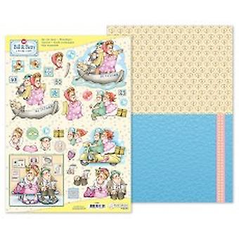Marij Rahder Bill & Betty 3D Die Cut Sheet & Potpourri Sheet