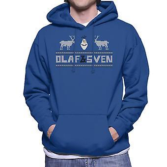 Disney Frozen Olaf et Sven Pixel Design Men's Sweatshirt à capuchon