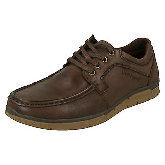 Mens Hush Chiots Lace Up Mocassin Chaussures Dudley
