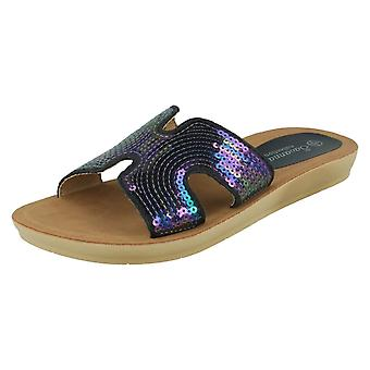 Ladies Savannah Sequin Mules F00354