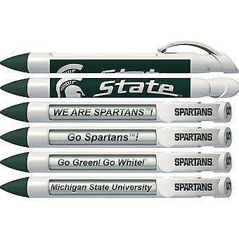 Greeting Pen Michigan State Spartans Braggin' Droits Rotating Message 6 Pen Set 20541
