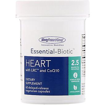 Allergy Research Group, Essential-Biotic, Heart with LRC and CoQ10, 2.5 Billion