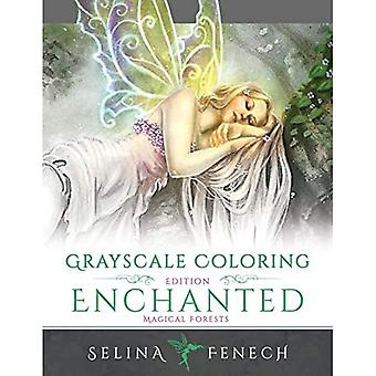 Enchanted Magical Forests -� Grayscale Coloring Edition (Grayscale Coloring Books by Selina)