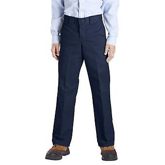 Dickies Big Boys' Slim Straight Pant, Dark Navy, 8