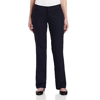 Dickies Women's Relaxed Straight Stretch Twill Pant, Navy, 2 Regular