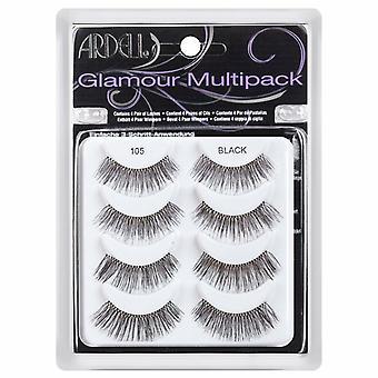 Ardell Glamour Pestañas reutilizables Multipack - 105 pestañas negras - 4 pares