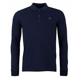 Paul And Shark Long Sleeved Pique Polo Shirt