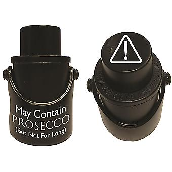 Prosecco Saver - Bottle Stop - Black - May Contain Prosecco - Gift Item