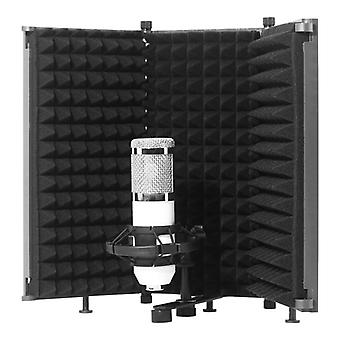 Foldable Microphone Isolation Shield With Mic - High Density Absorbing Foam