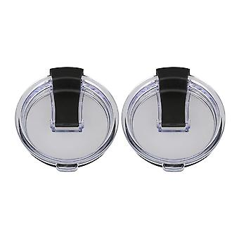 2pieces Clear Black Spill Proof Lids for 20oz Tumbler Travel Cup