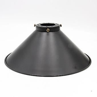 Vintage Metal Fixture For Lampshade, Black Retro Round Shape