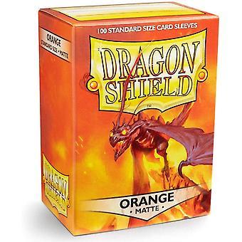Dragon Shield 11013 Matte Standaard Maat Mouwen 100pk-Orange (Pack van 10)
