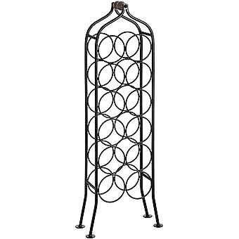 Hill Interiors 12 Bottle Wrought Iron Wine Rack