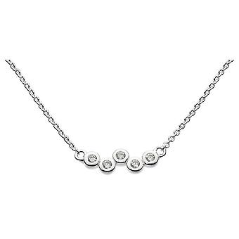 Dew Sterling Silver Scattered Cubic Zirconia 18 Necklace 9711CZ021