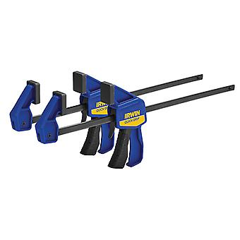 IRWIN Quick-Grip Mini Bar Clamp Twin Pack 300mm (12in) Q/G54122QCN