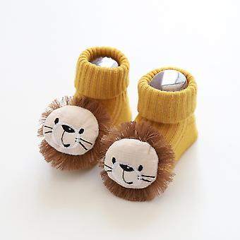 1 Pair Cotton Baby Socks- / Rubber Anti Slip Floor Cartoon Kids Autumn Spring