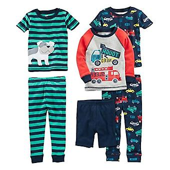 Simple Joys by Carter's Baby, Little Kid, and Toddler Boys' 6-Piece Snug Fit ...
