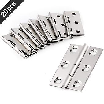 20 Pcs Stainless Steel Hinges Door Connector Drawer, 6-montage Trous Durables