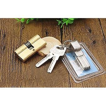 Gold Door Cylinder Biased Lock Ab-key Anti-theft For Entrance Brass Door Lock Extended Keys