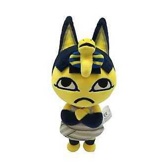 Animal Crossing Plysch Raymond, Marskalk Kawaii Kudde Figur Katt leksak, Fyllda