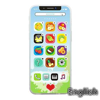 Baby Kid Educational Led Cellphone English Learning Mobile Phone Toy Chrismtas