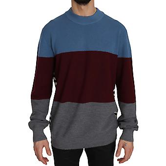 Multicolor Rundhals Pullover Pullover Pullover