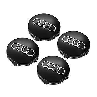 Black Audi Wheel Center Caps Hub Badges 60mm 4 PCS For A3 A4 A6 A8 TT