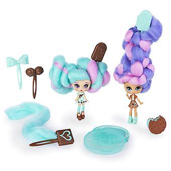 Candylocks 6054716 bff 2-pack, pulcino choco menta e choco lisa, bambole da collezione profumate con acces