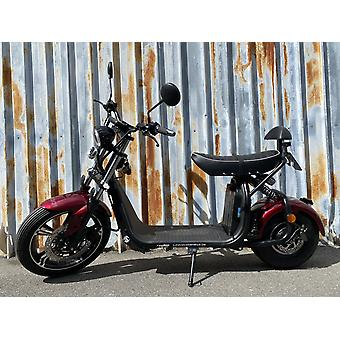 """Fatboy City Coco Smart E Electric Scooter Harley - 17 """"- 1500W - 20Ah - Clase B - Rojo"""