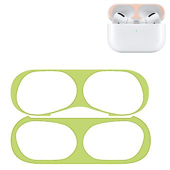 Для Apple AirPods Pro Беспроводные наушники Защитный чехофон Металлическая защитная наклейка (зеленый)