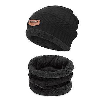 Winter Thicken Warm Outdoor Essential Cotton  Hat Scarf Set/girls