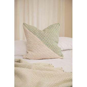 Diagonal Basic Feijoa Green + Cream Pillow