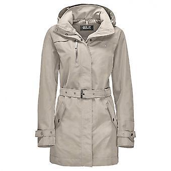 Jack Wolfskin Kvinders Kimberly Coat Hætteklædte Jacket Grey 1108731 6260