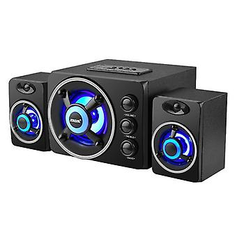 Led Light Computer Speaker With Adjustable Heavy-bass And Support Tf Card/u