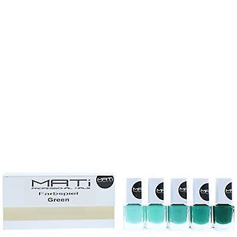 MATi Professional Nails Gift Set Green 5 x 5 Nail Polish
