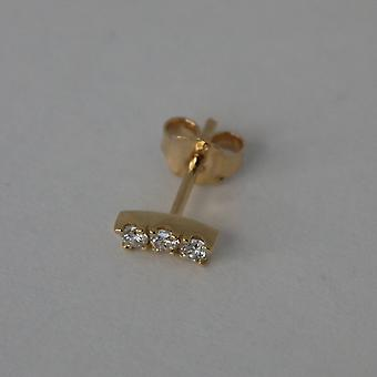 Orecchini Mini Love, oro e diamanti 18K