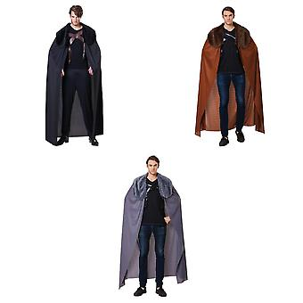 Bristol Novelty Mens Faux Fur Collar Cape
