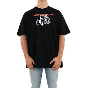 OFF WHITE Dematerializatio S/S Over Tee Black OMAA038R21JER0051025 Top