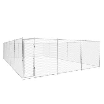 Outdoor dog kennel Galvanized steel 10x6x2 m