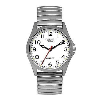 Montre silver flex band avec cadran blanc