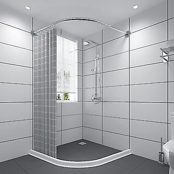 Utdragbar Böjd duschdraperdinstång