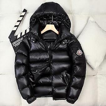 Top Quality Down Jacket Men Women Short Shiny Hooded Couple Thick Warm Handsome