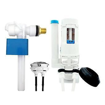 Válvula de entrada de entrada lateral pro - tipo de botão de pressão de descarga dupla